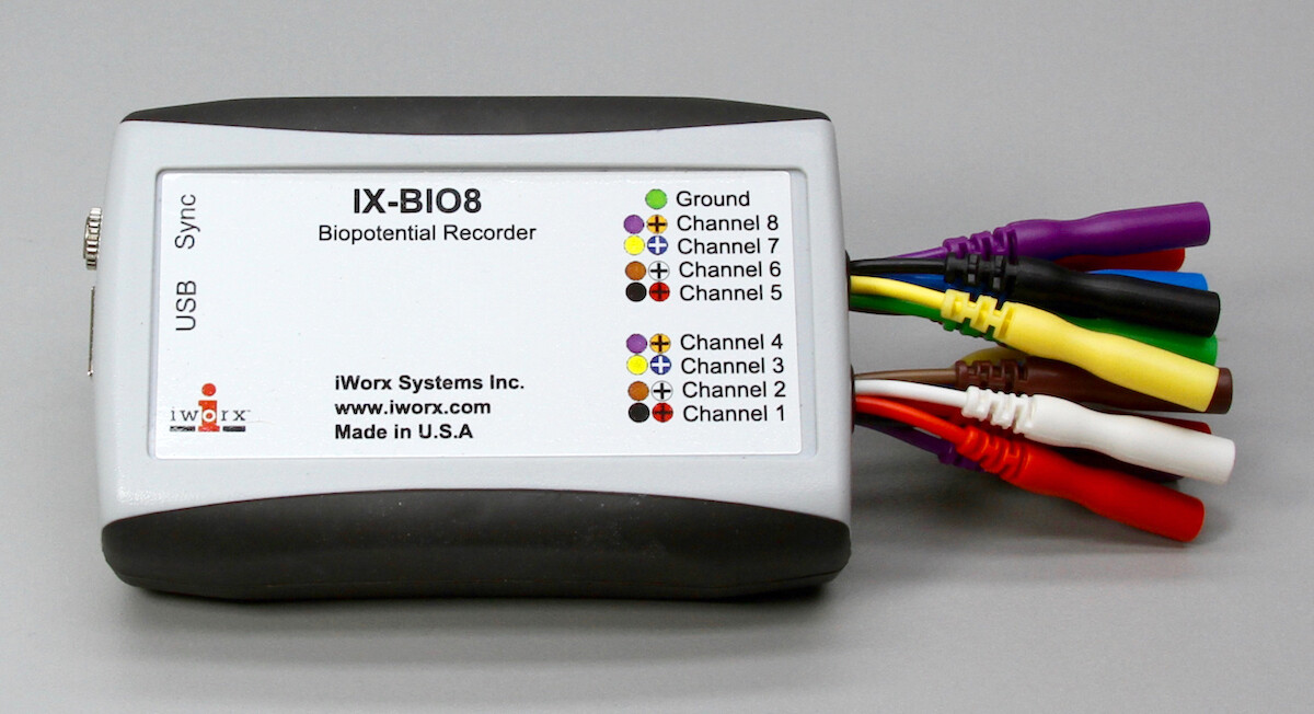 IX-BIO8 8-Ch Isolated Biopotential Recorder