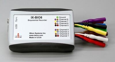 IX-BIO8 8-Ch Isolated Biopotential Recorder