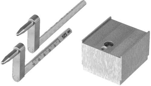 Model 865 35 mm Offset Ear Bars & Riser Block