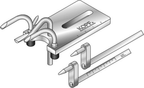 Model 866 35 mm Offset Ear Bars, Raised Eye Bars and Inverted - Palate Clamp