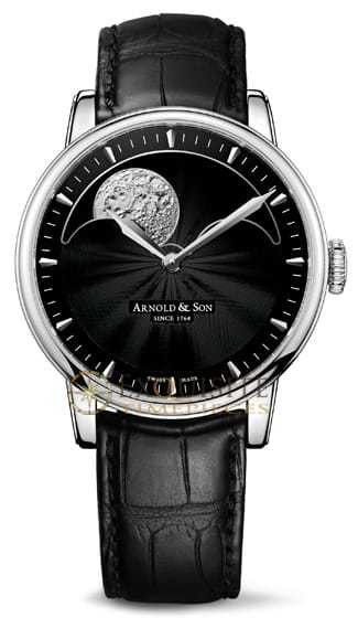 Arnold & Son HM Perpetual Moon Stainless Steel 1GLAS.B01A.C122S