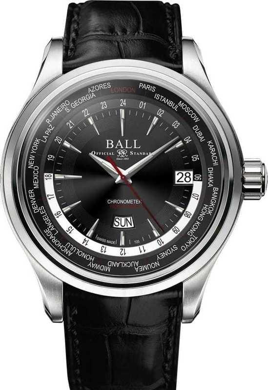 Ball Watch Trainmaster World Time GM2020D-LL1CJ-BK
