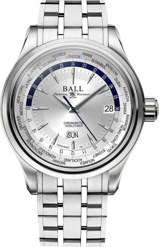Ball Watch Trainmaster World Time GM2020D-S1CJ-SL