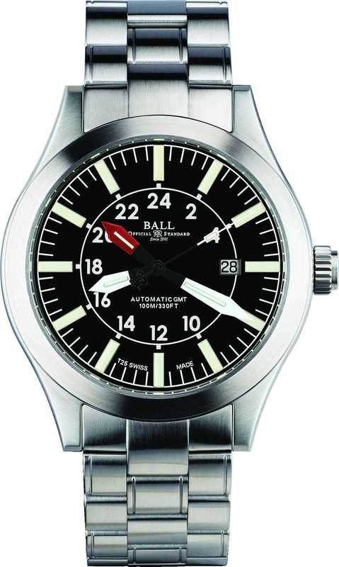 Ball Watch Engineer Master II Aviator GMT Black Dial on Bracelet GM1086C-SJ-BK