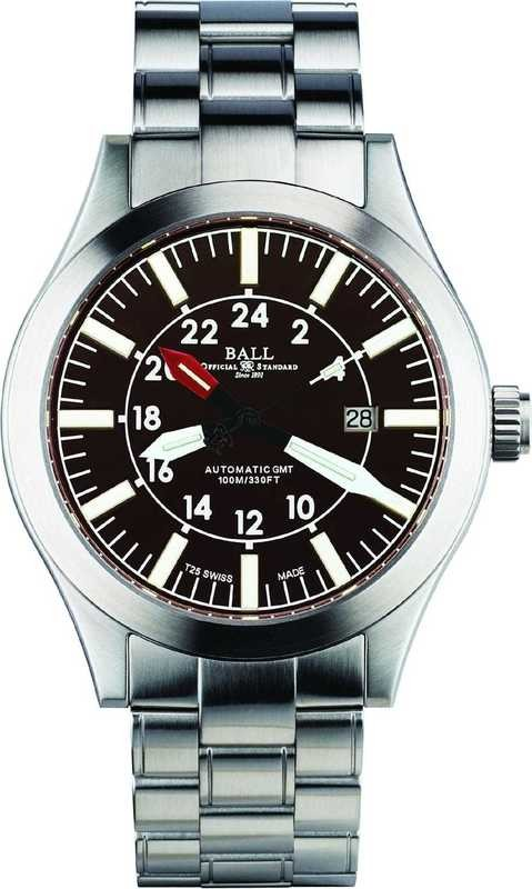 Ball Watch Engineer Master II Aviator GMT Brown Dial on Bracelet GM1086C-SJ-BR