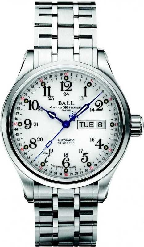 Ball Watch Engineer NEW Trainmaster 60 Seconds NM1058D-S3J-WH