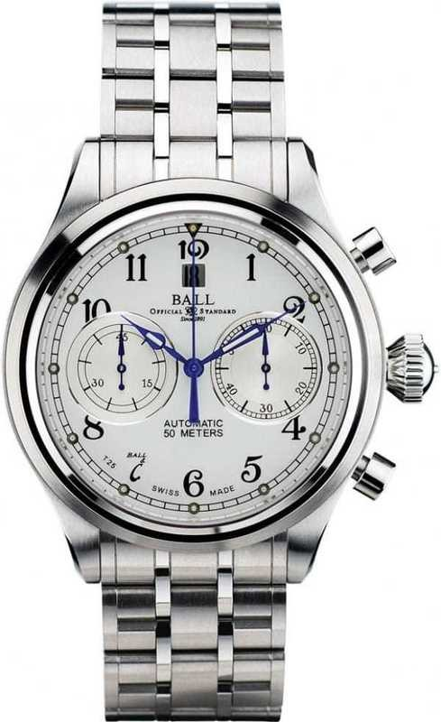 Ball Watch Trainmaster Cannonball Chronograph CM1052D-S1J-WH