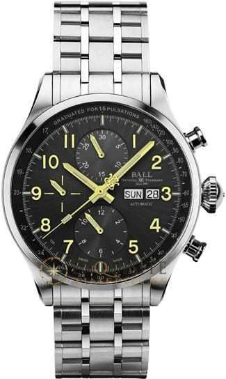 Ball Watch Trainmaster Pulsemeter Chronograph CM3038C-SJ-GY