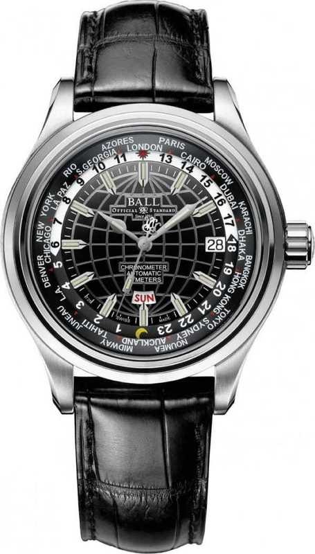 Ball Watch Trainmaster Worldtime COSC II GM2020D-LC-BK