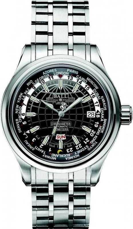 Ball Watch Trainmaster Worldtime COSC II GM2020D-SC-BK