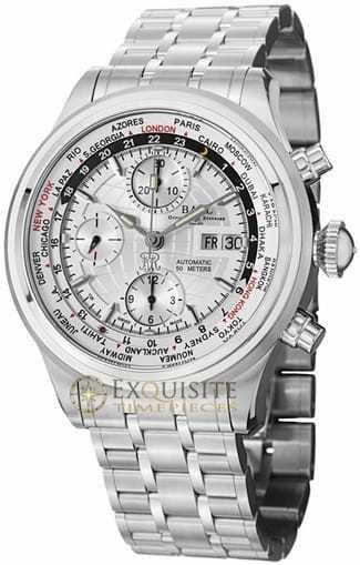 Ball Watch Trainmaster World Time GMT Chronograph CM2052D-SJ-SL