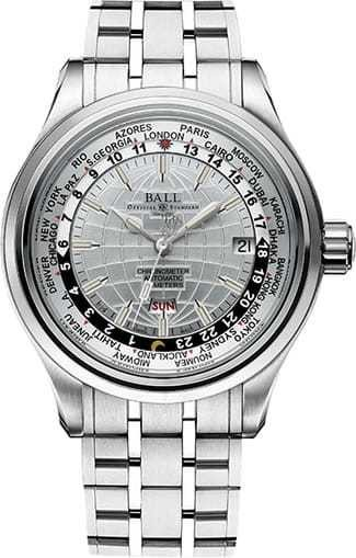Ball Watch Trainmaster Worldtimer GM2020D-SC-WH