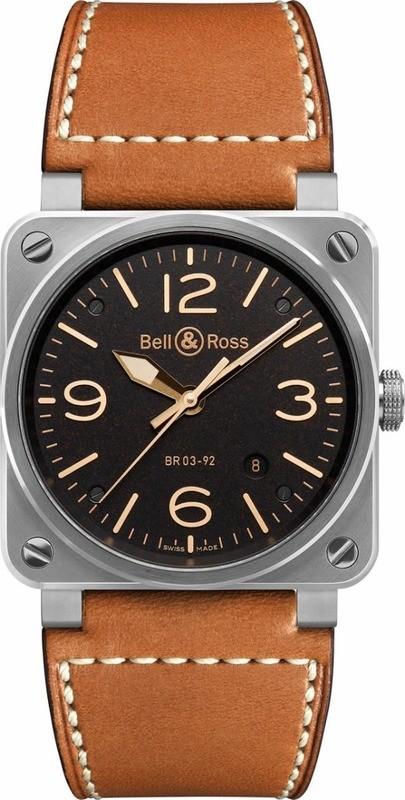 Bell & Ross BR 03-92 Golden Heritage BR0392-ST-G-HE-SCA
