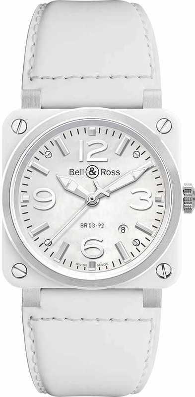 Bell & Ross BR03-92 White Ceramic BR0392-WH-C-SCA