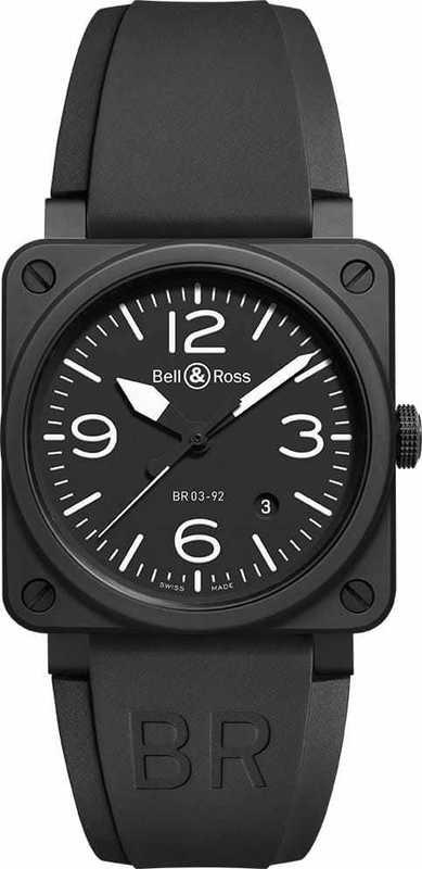 Bell & Ross BR 03-92 Black Matte BR0392-BL-CE