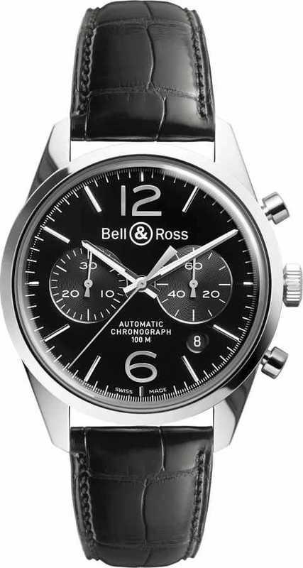 Bell & Ross BR126 Vintage Officer BRG126-BL-ST-SCR