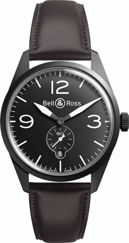 Bell & Ross BR123 Vintage Original Carbon BRV123-BL-CA-SCA