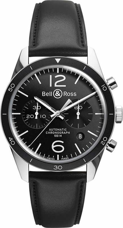 Bell & Ross Vintage BR 126 Sport Stainless Leather BRV126-BL-BE-SCA