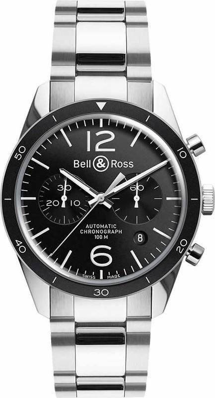 Bell & Ross Vintage BR 126 Sport Stainless Steel Bracelet BRV126-BL-BE-SST