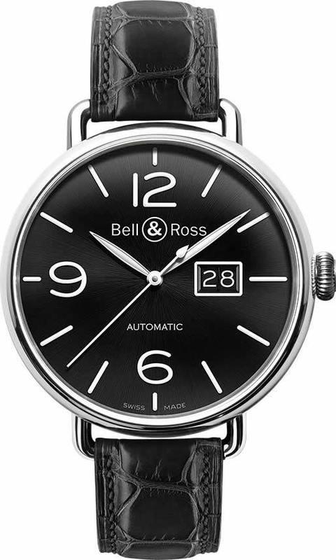 Bell & Ross WW1-96 Grande Date Watch BRWW196-BL-ST-SCR