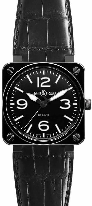 Bell & Ross BR 01-92 CERAMIC BR0192-BL-CER-SCR