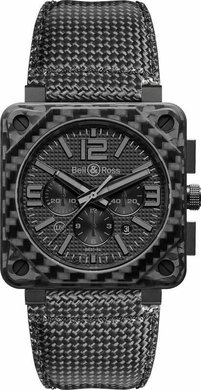 Bell & Ross BR-01 94 Carbon Fiber Phantom BR0194-CA-FIBER-PH