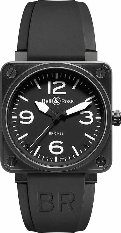 Bell & Ross BR01-92 Automatic Black With Black Instrument BR0192-BL-CA