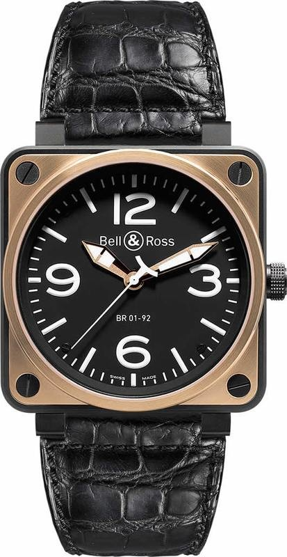 Bell & Ross BR01-92 Rose Gold and Carbon BR0192-BICOLOR