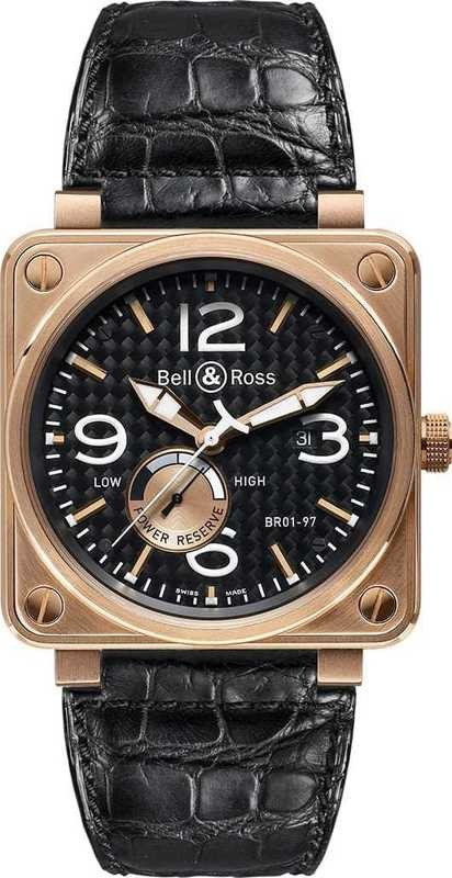 Bell & Ross Power Reserve Gold Instrument BR01-97Gold