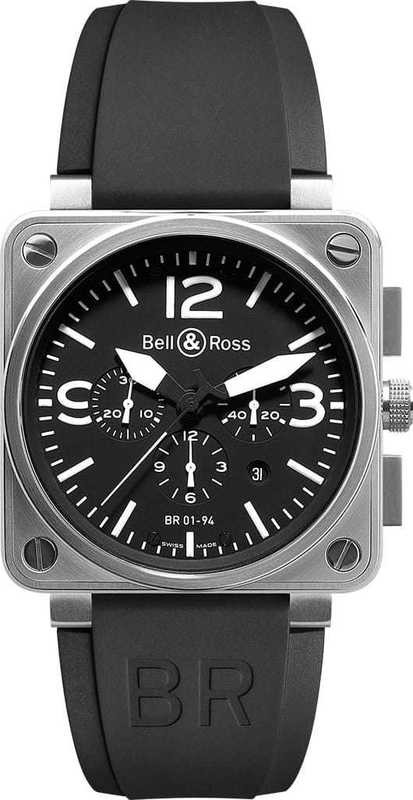 Bell & Ross BR01-94 Chronograph Instrument BR0194-BL-ST