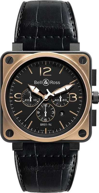 Bell & Ross BR 01-94 Pink Gold & Carbon Officer BR0194-BICO-OF