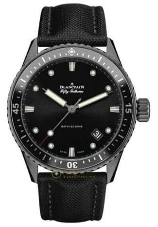 Blancpain Fifty Fathoms Bathyscaphe Ceramic and Liquid Metal 5000-0130-B52A