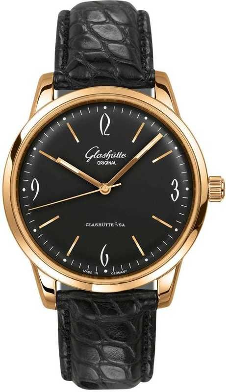 Glashütte Original Senator Sixties Rose Gold Black Dial 39-52-02-01-04
