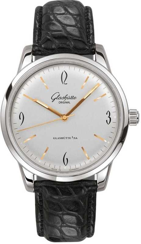 Glashütte Original Senator Sixties Stainless Steel White Dial 39-52-01-02-04