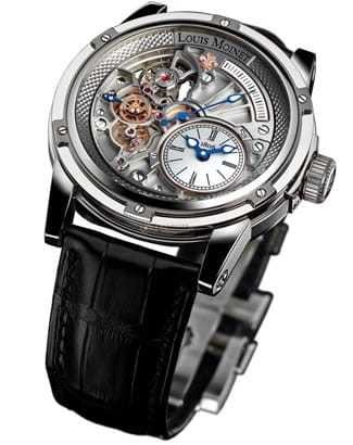 Louis Moinet 20 Seconds Tempograph White Gold LM-39.70.80