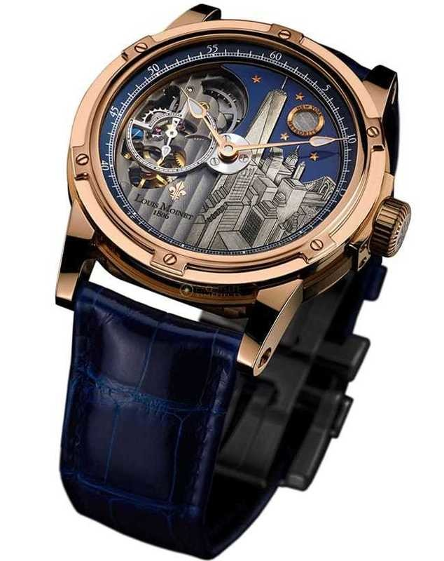 Louis Moinet Mecanograph New York 18k Gold LM-31.50.NY