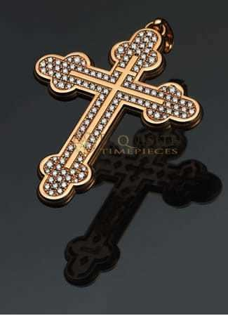 Strom Agonium Orthodox Cross Redgold with Diamonds