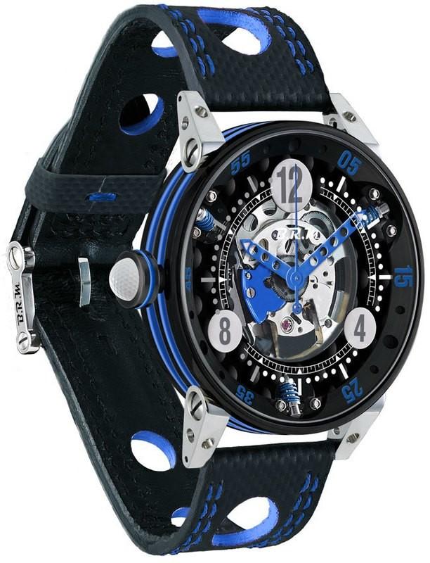 BRM Golf Black Skeleton Dial Blue GF6-44-SA-N-SQ-ABLF