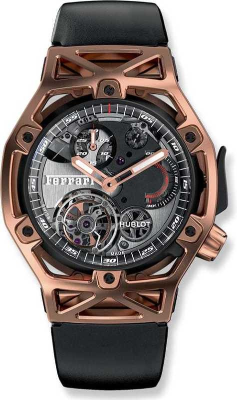 Hublot Techframe Ferrari Torubillon Chronograph King Gold