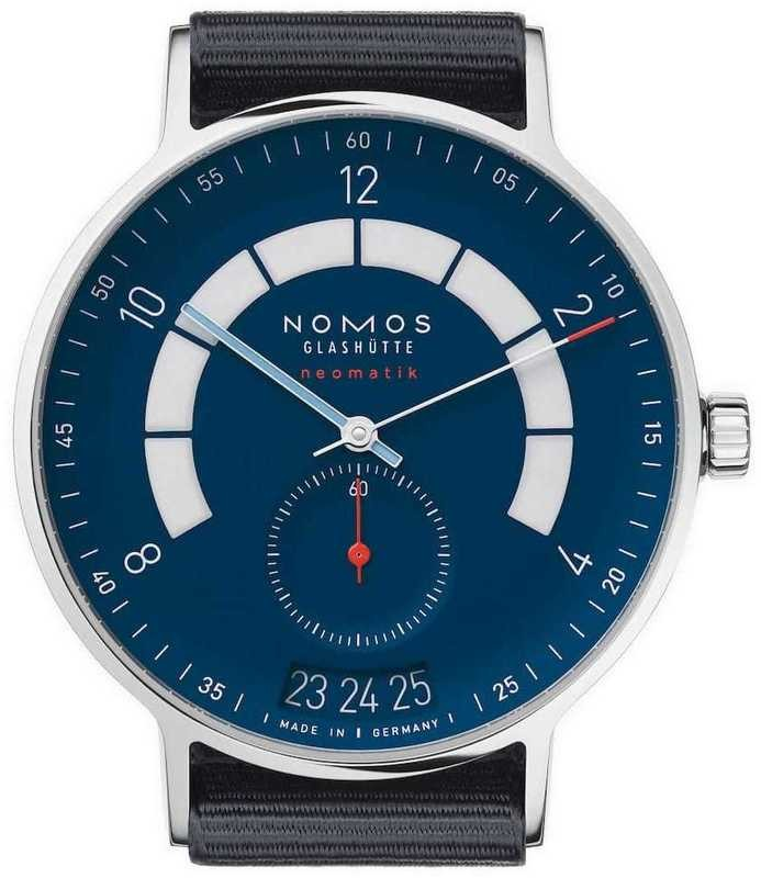 NOMOS Glashütte Autobahn Neomatik 41mm Date Midnight Blue
