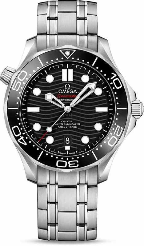 Omega Seamaster Diver 300M Co-Axial Master Chronometer Black Dial on Bracelet
