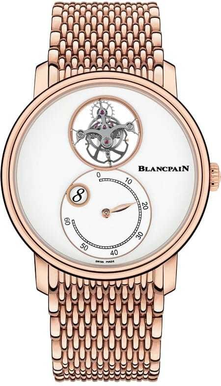 Blancpain Villeret Tourbilllon Volant Heure Sautante Minute Retrograde 66260-3633-MMB