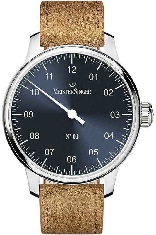 MeisterSinger No 01 40mm Sunburst Blue