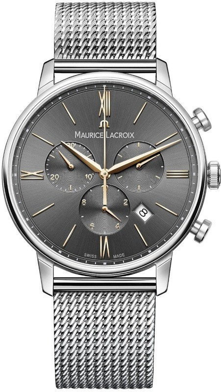 Maurice Lacroix Eliros Chronograph Anthracite Dial on Steel Bracelet EL1098-PVPSS002-311-1
