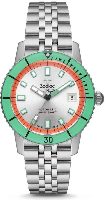 Zodiac Super Sea Wolf Automatic Stainless Steel