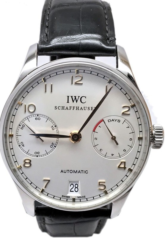 IWC Portuguese Automatic Stainless Steel Red Numerals IW5001-14