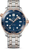 Omega Seamaster Diver 300M Co-Axial Master Chronometer Steel Sedna Gold