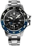 Ball Engineer Hydrocarbon AeroGMT II Black Blue Bezel