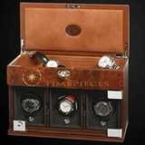 Underwood Watch Winder Three Module with Jewellery Case Briarwood