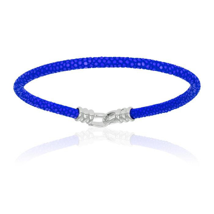 Double Bone Single Stingray Blue Bracelet Unisex
